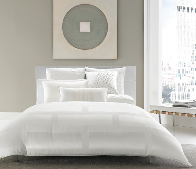 Hotel Collection Frame White Bedding Contemporary Bedroom