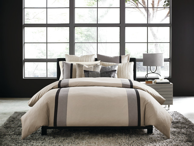 Hotel Collection Manhattan Stripe Bedding Collection Contemporary Bedroom New York By