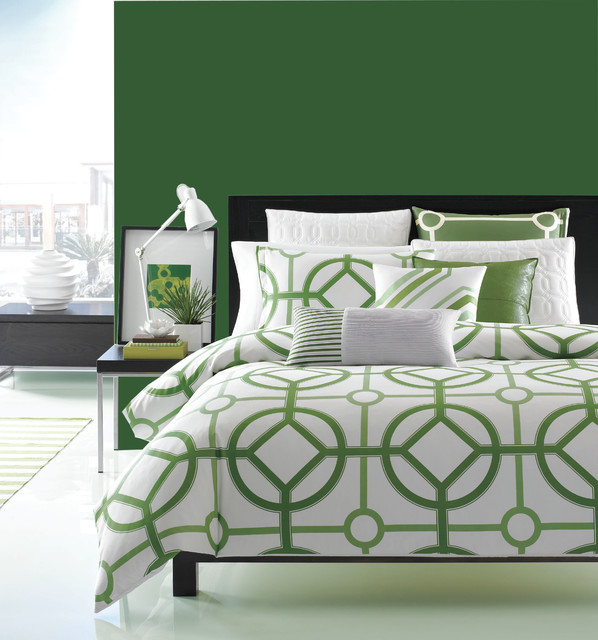 Hotel Collection Modern Trellis Bedding Collection - Contemporaneo ...