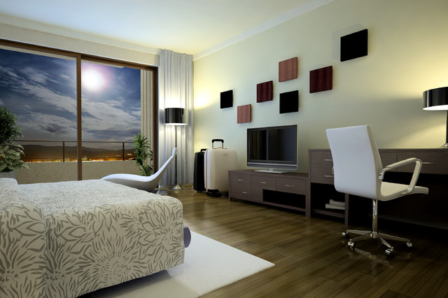 Modern Hotel Room hotel room - modern - bedroom - other -woodngo