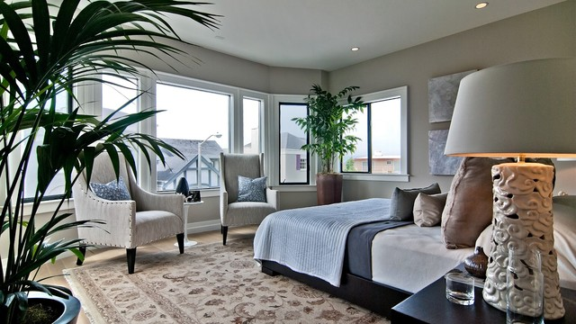 House addition and redesign contemporary-bedroom