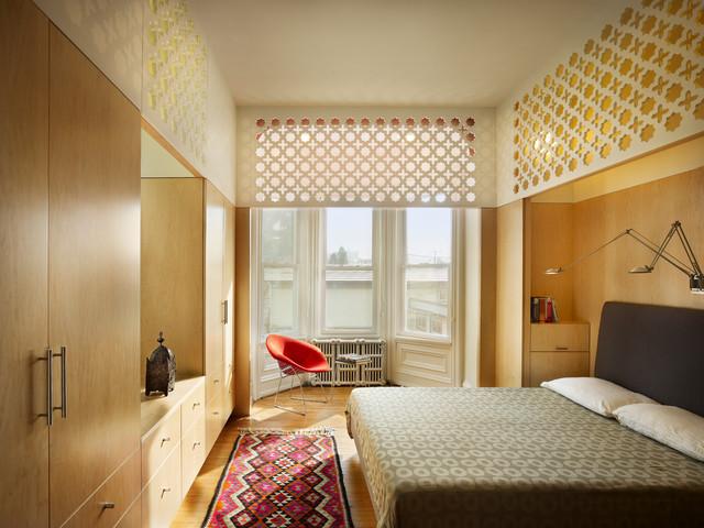 House In Fairmount Art Museum Mediterranean Bedroom