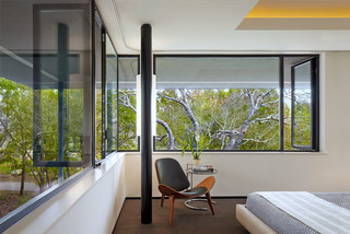 house in trees 10772 | contemporary bedroom