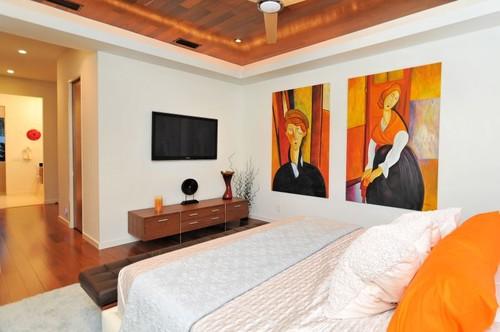 modern bedroom House on Bonita Court Sarasota FL