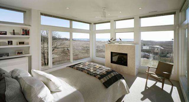 House Overlooking Salt Marsh modern-bedroom