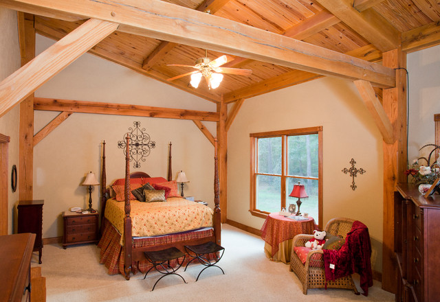 Houston Timber Frame traditional-bedroom