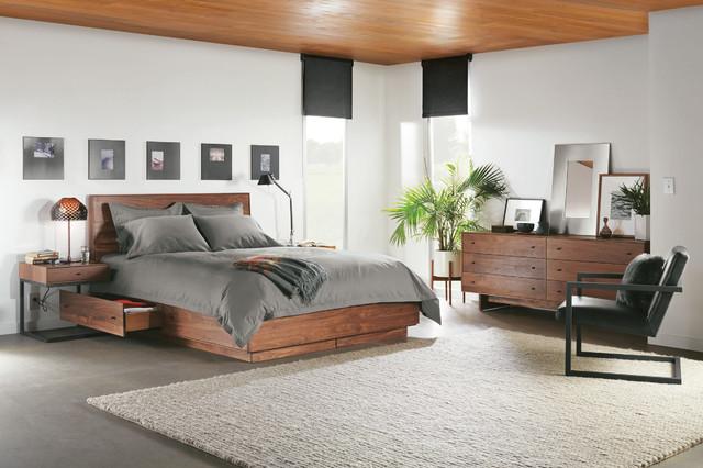 Hudson bed with storage drawer modern-bedroom