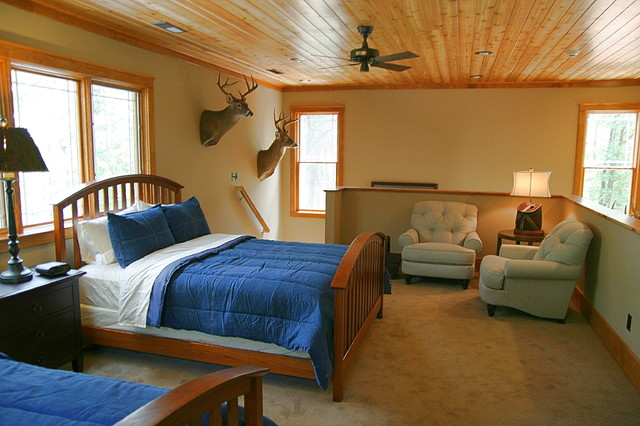 hunting cabin eclectic bedroom