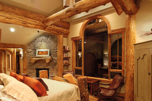 hybrid log house traditional bedroom vancouver by