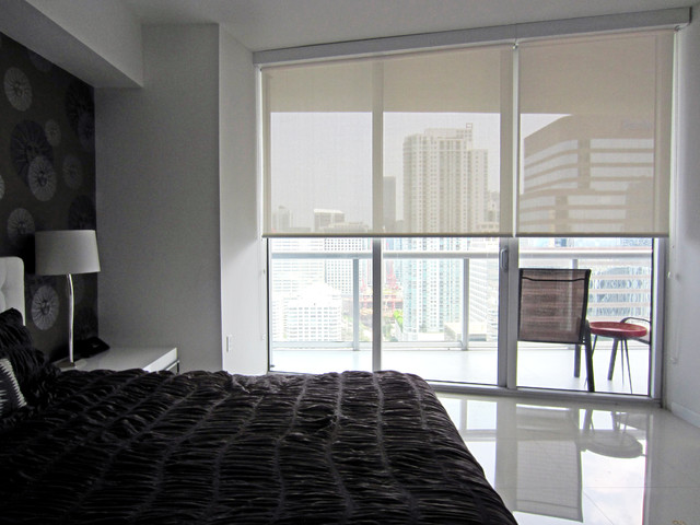 Icon Brickell Window Shadesmodern Bedroom Miami