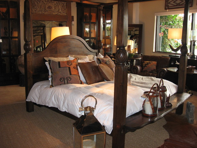 Idlewild FurnishingTeak four poster bed eclectic-bedroom