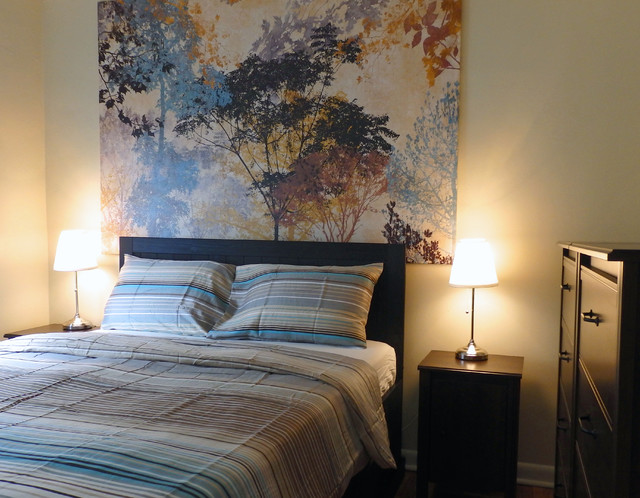 Ikea Bedroom In Beige Blue And Dark Brown Modern
