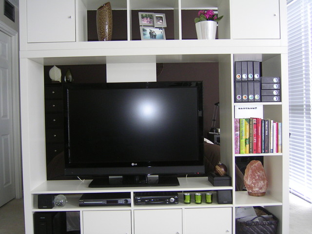 Ikea Wall Unit Contemporary Bedroom