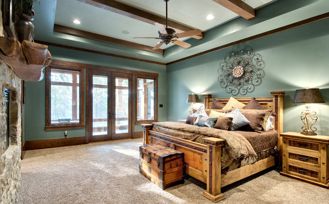 Indian Lakes  Mountain Lodge Style rustic bedroom. Indian Lakes  Mountain Lodge Style   Rustic   Bedroom   Houston