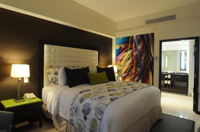 Indigo Hotel contemporary-bedroom