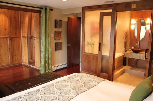 Indonesian Asian Master Bedroom Suite Eclectic Bedroom