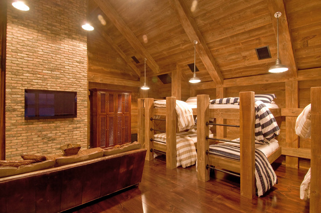Habitat Cabin Beds : Industrial rustic bunk room bedroom new york