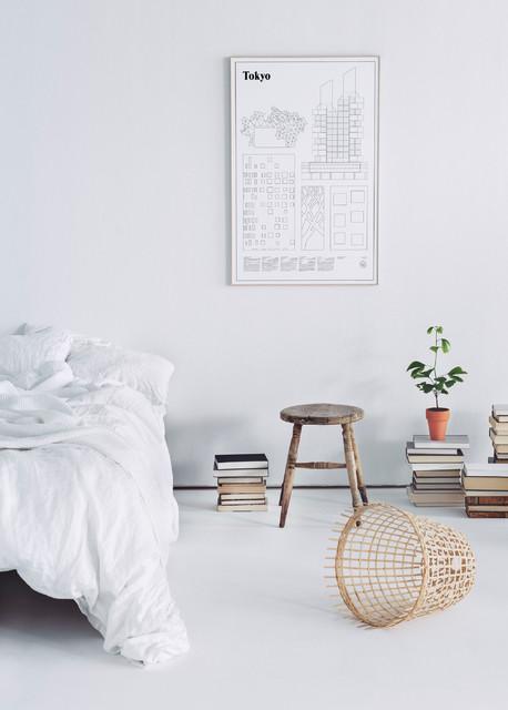 Inredning av ett skandinaviskt sovrum