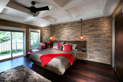 love the wall behind the bed what product is it stone wood