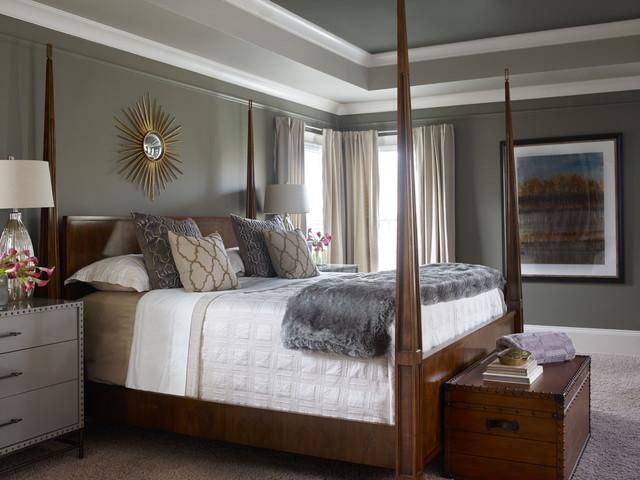 Interior Design Atlanta GA Masculine Townhome Transitional Bedroom Atl