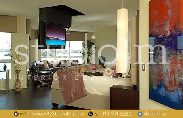 Interior Design   Tampa   Coastal Contemporary contemporary-bedroom