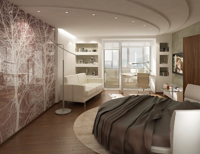 Interior photographic glass walls - Modern - Bedroom ...