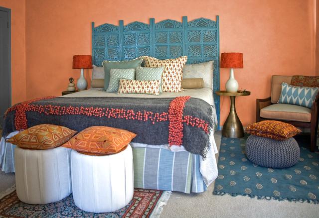 Interiors Modern Indian Master Bedroom: San Mateo, CA Indian Bedroom