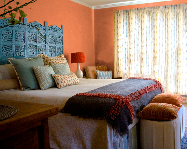 Interiors modern indian master bedroom san mateo ca for Eclectic master bedroom ideas
