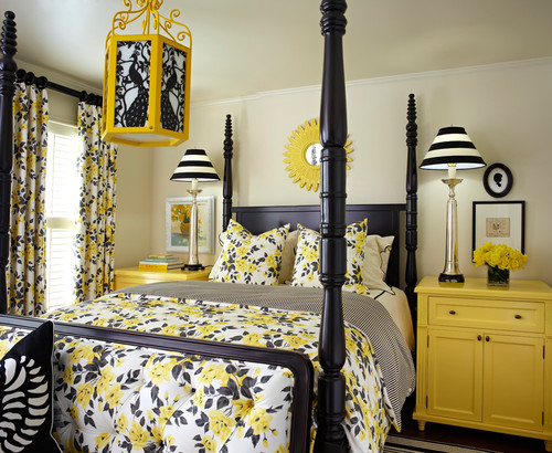 traditional bedroom Color of the Month: Decorating with Yellow