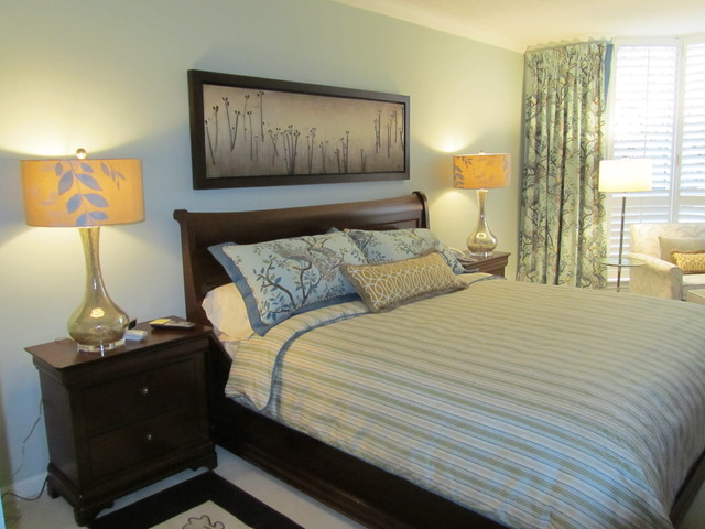 Inviting spa colours for bedding contemporary-bedroom