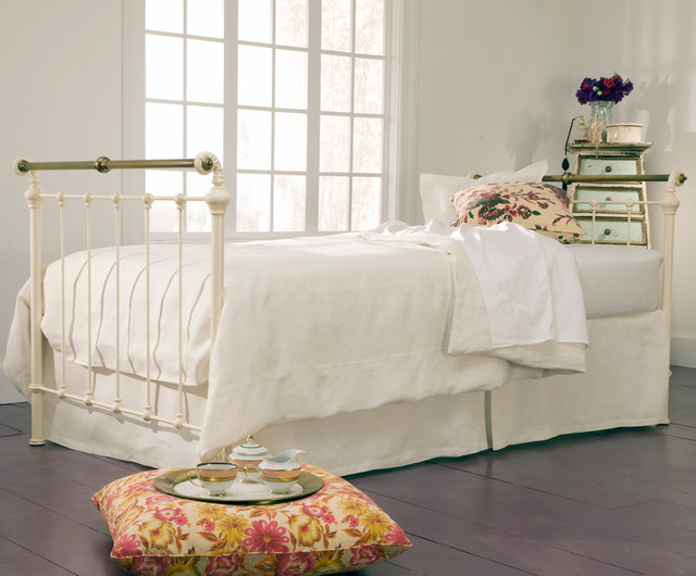 Iron Amp Brass Sleigh Daybed Antique White Shabby Chic