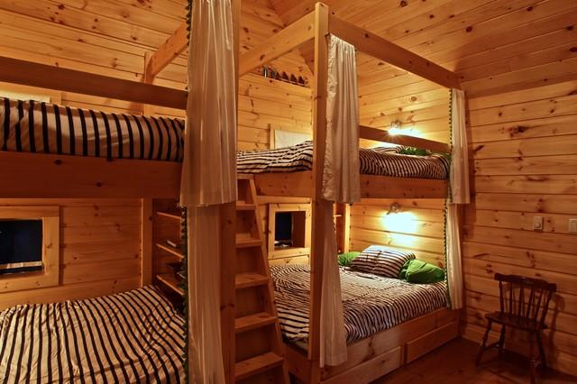 Island Cottage Renovation Rustic Bedroom