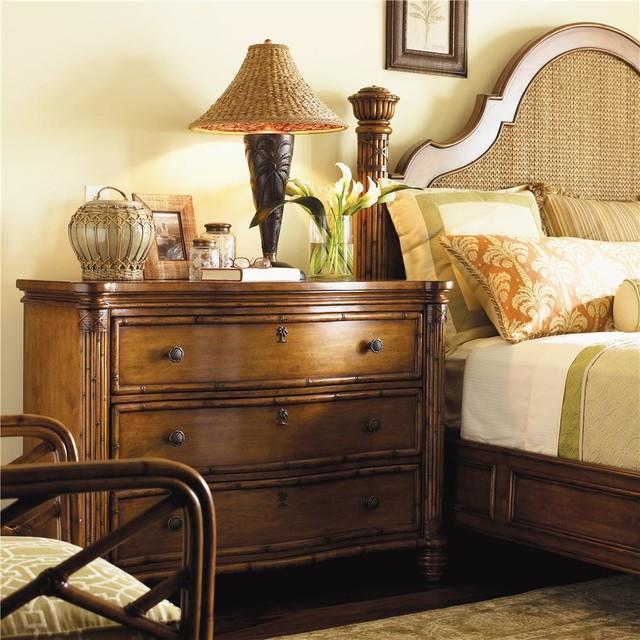 Island estate 3 drawer barbados chest for Tropical bedroom furniture