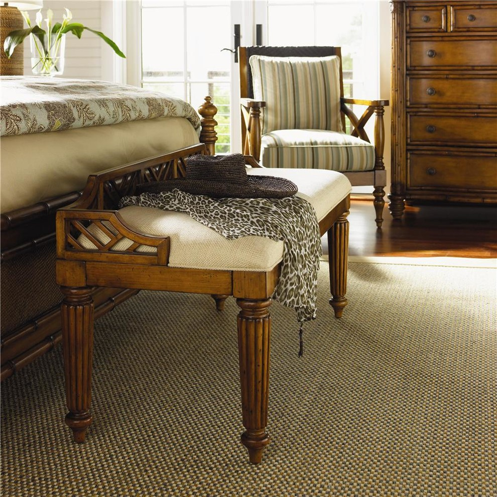 Island Estate Customizable Upholstered Plantain Bed Bench ...