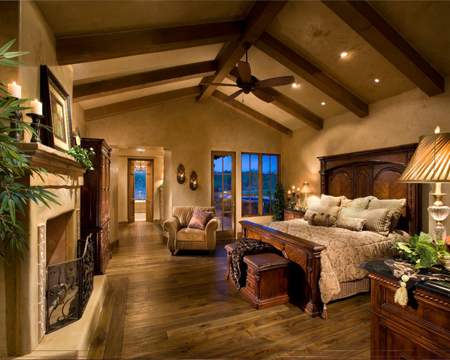 Italian farmhouse mediterranean bedroom phoenix by for Mediterranean master bedroom
