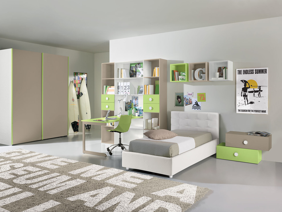 Italian Kids Bedroom Furniture Set Vv G002 Call For Price Umodstyle Contemporary Bedroom New York By Valentini Kids Furniture Brooklyn Ny