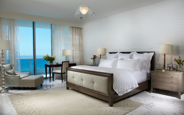 miami modern contemporary ocean front contemporary bedroom