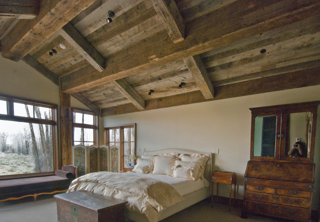 jackson, wy country home  rustic  bedroom  other  by trestlewood, Bedroom decor