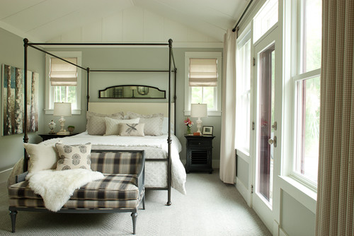 Mirror above bed - Houzz