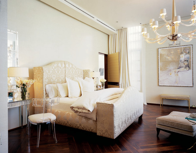 contemporary bedroom by Jamie Herzlinger