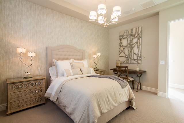 Inspiration for a modern bedroom remodel in Los Angeles