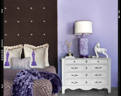 Jane Fonda Inspired Suite eclectic-bedroom