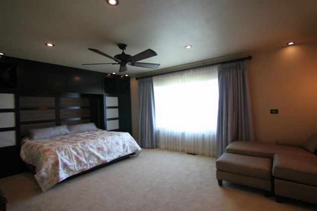 japanese inspired master bath contemporary bedroom miami by