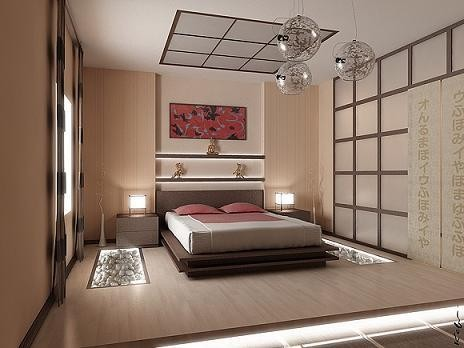 Japanese style bedroom for Asian bedroom design