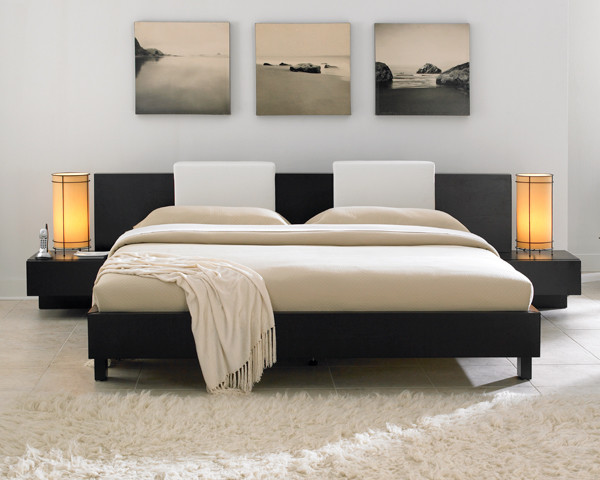 Japanese style bedroom for Modern minimalist bedroom furniture