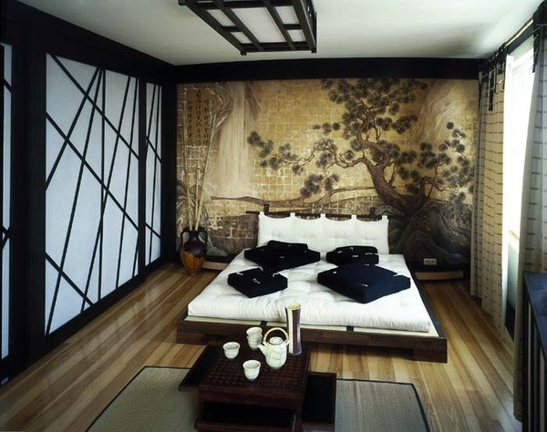 Inspiration for a zen bedroom remodel in Other