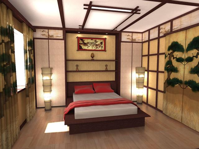 Japanese style bedroom asian-bedroom