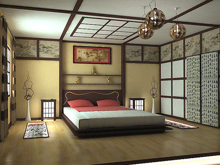 Japanese style bedroom for Decoration chambre karate
