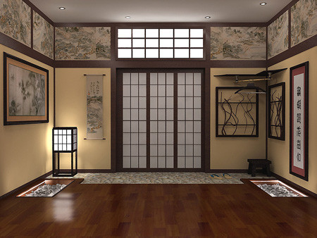 Japanese style bedroom for Japanese style decor