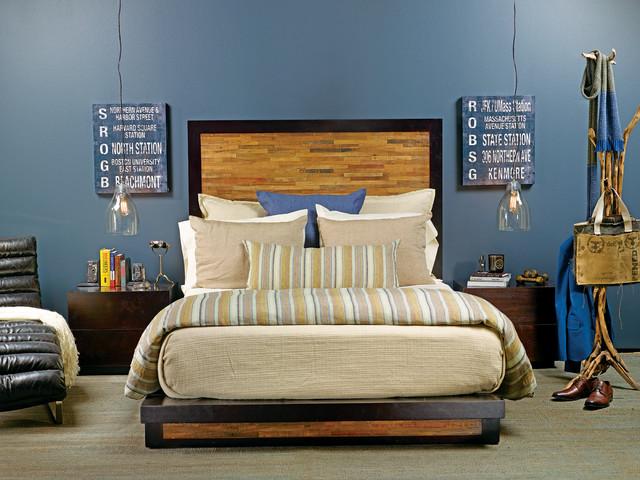 jazz loft - santomer bed - eclectic - bedroom - houston -high